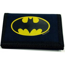 Cartera monedero Batman con velcro