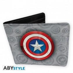 Cartera Billetero Capitán America Logo DC Comics