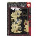 Puzzle Juego de Tronos Mapa 1000pz