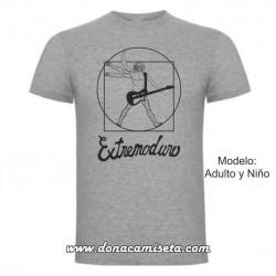 Camiseta MC Extremoduro Vitruvio guitarrista