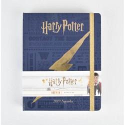 Libreta premium Harry Potter escudo casas dorado