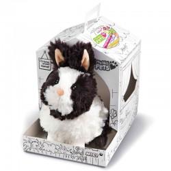 Peluche Conejo My Nici Pets 18 cm con casa para colorear