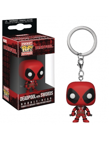 LLavero Funko Pop Deadpool with Swords