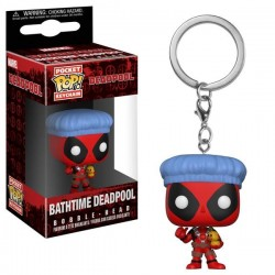 LLavero Funko Pop Deadpool Bathtime
