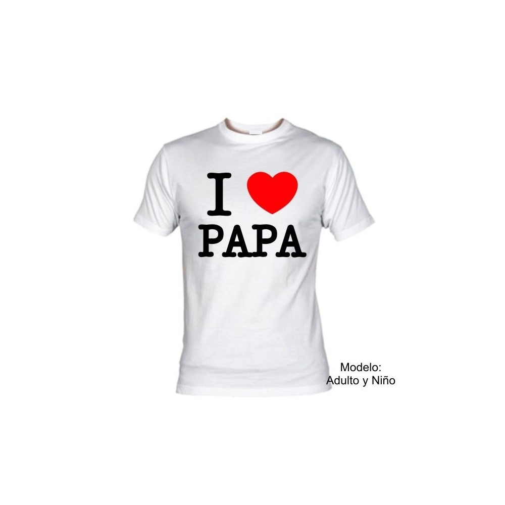 Camiseta MC I Love Papa