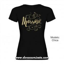 Camiseta Morriña dorado glitter