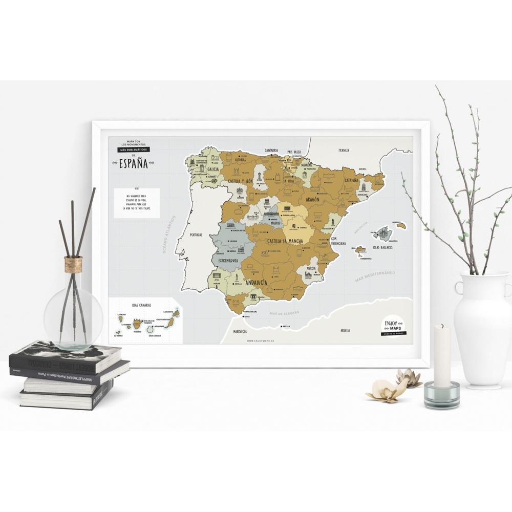 Mapa Rascable de España en Español