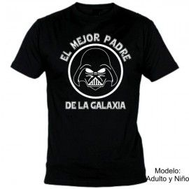 Camiseta MC Darth Vader Mejor padre Galaxia