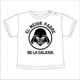 Camiseta MC Bebé Darth Vader Mejor padre de la Galaxia