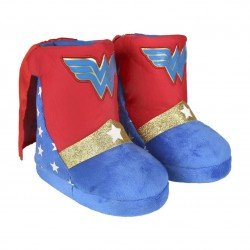 Zapatillas de casa Wonder Woman bota en 3d con capa