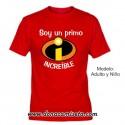 Camiseta Personalizable Increible