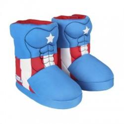 Zapatillas de casa Capitán América bota en 3d con capa