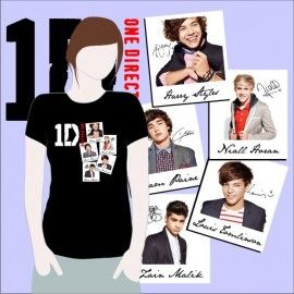 Camiseta MC One Direction Fotos