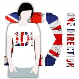 Camiseta MC One Direction Bandera