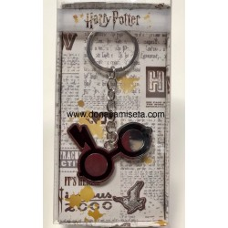 LLavero Harry Potter Gafas con Rayo en metal