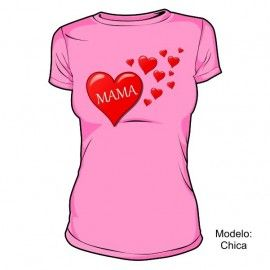 Camiseta MC Mamá Corazones