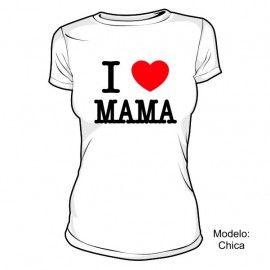 Camiseta MC I Love Mama