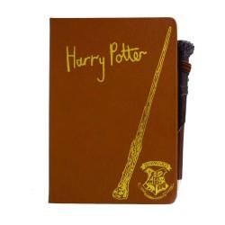 Set de Libreta y Bolígrafo Varita Harry Potter premium