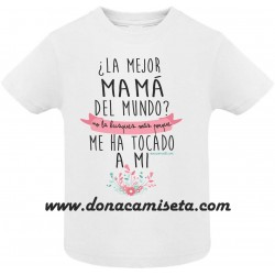 Camiseta Mejor mamá del mundo Bebé / Niño
