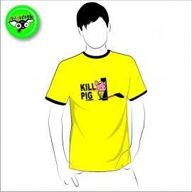 Camiseta MC Unisex Kill Pig (parodia Kill Bill)