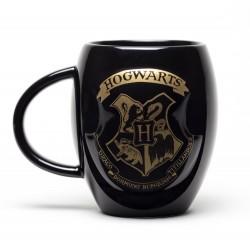 Jarra Harry Potter Negra Escudo Hogwarts dorado