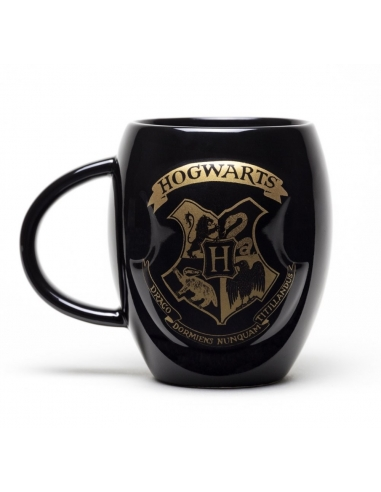 Taza Harry Potter Escudo Hogwarts dorado