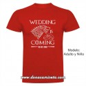 Camiseta Wedding is Coming