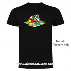 Camiseta MC Cubo Rubik Sheldon derretido