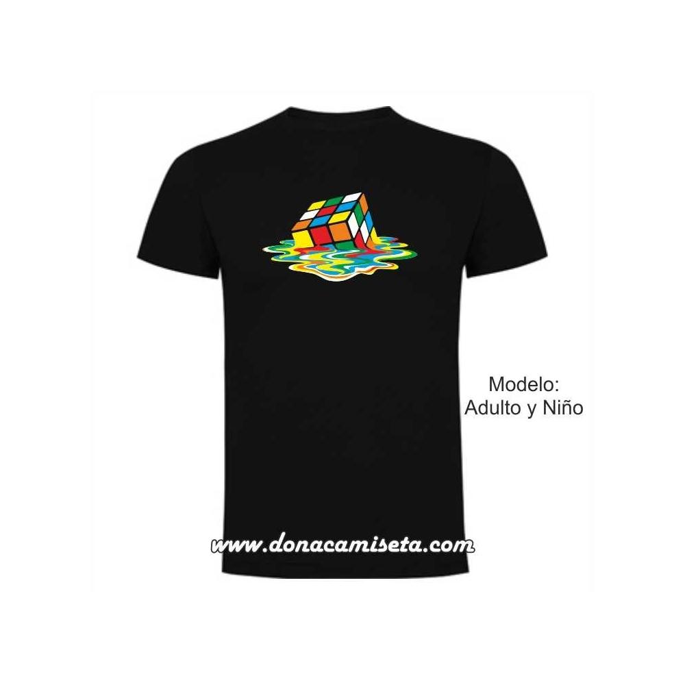 Camiseta MC Cubo Rubik derretido