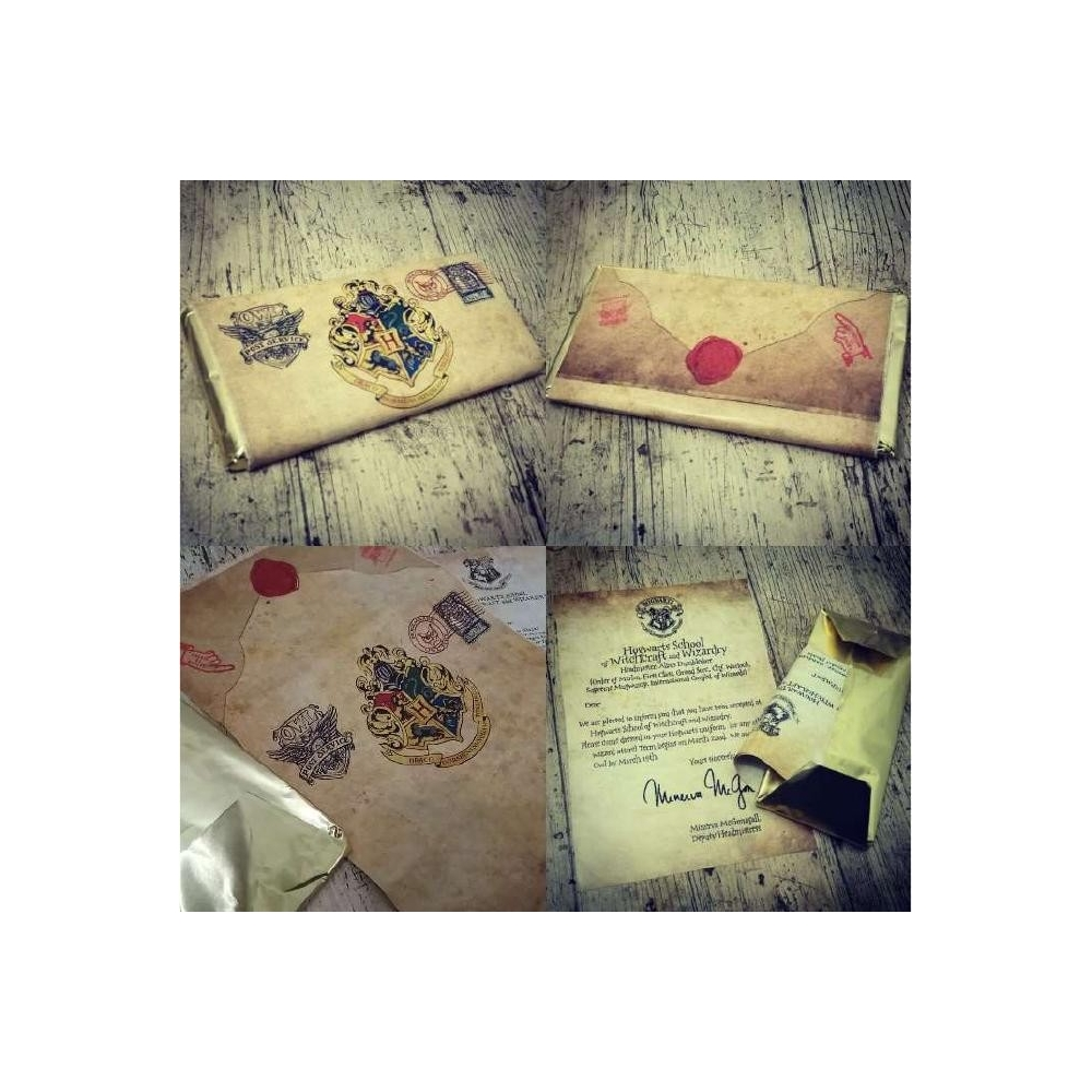 Chocolatina Friki Carta de Hogwarts