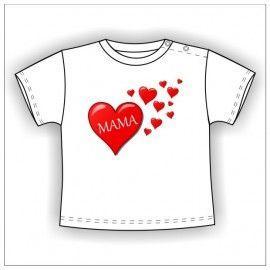 Camiseta MC Bebé Mamá Corazones