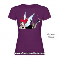 Camiseta Campanilla Rockabilly Tatoo acostada