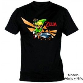 Camiseta MC Zelda Link espada