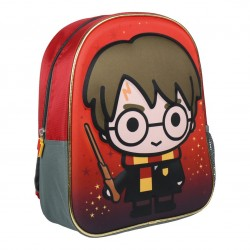 Mochila Harry Potter Harry con varita 3d infantil