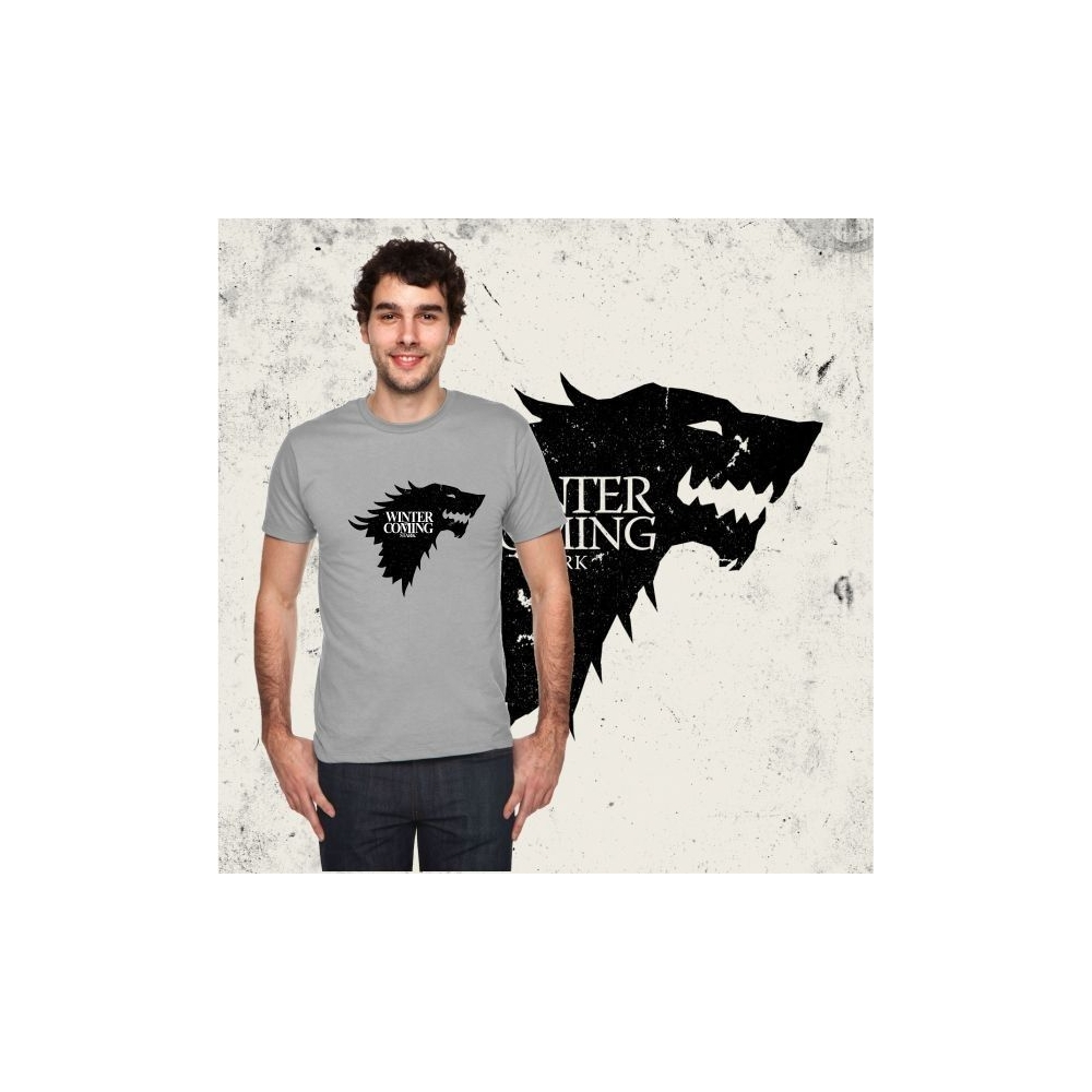 "Camiseta MC Unisex ""LOBO CASA STARK"" (Juego de Tronos)"