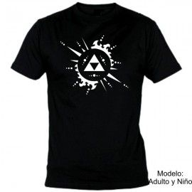 Camiseta MC Zelda Tri-force
