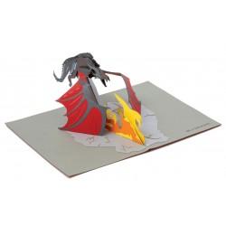Tarjeta De Felicitación pop-up 3D Targaryen - Juego de Tronos