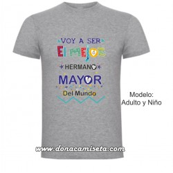 Camiseta Mejor Hermano Mayor