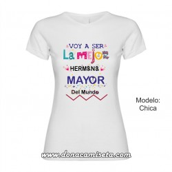Camiseta Mejor Hermana Mayor