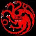 Camiseta MC Unisex Targaryen Dragon ( Juego de Tronos)