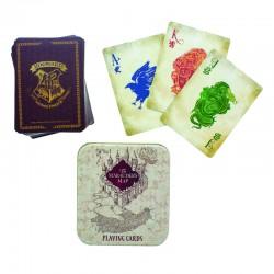 Baraja de cartas Harry Potter en caja de lata Marauders Map