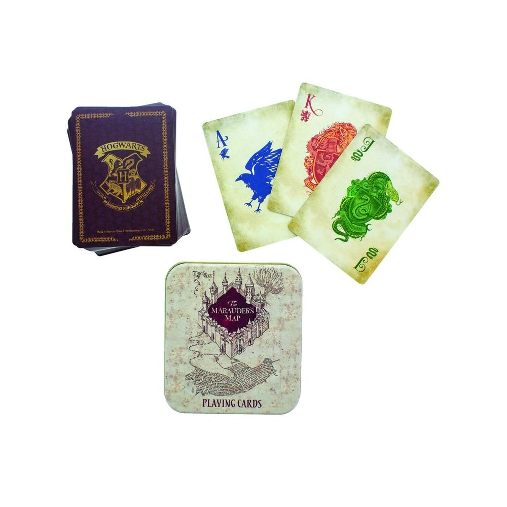 Baraja de cartas Harry Potter en caja de lata