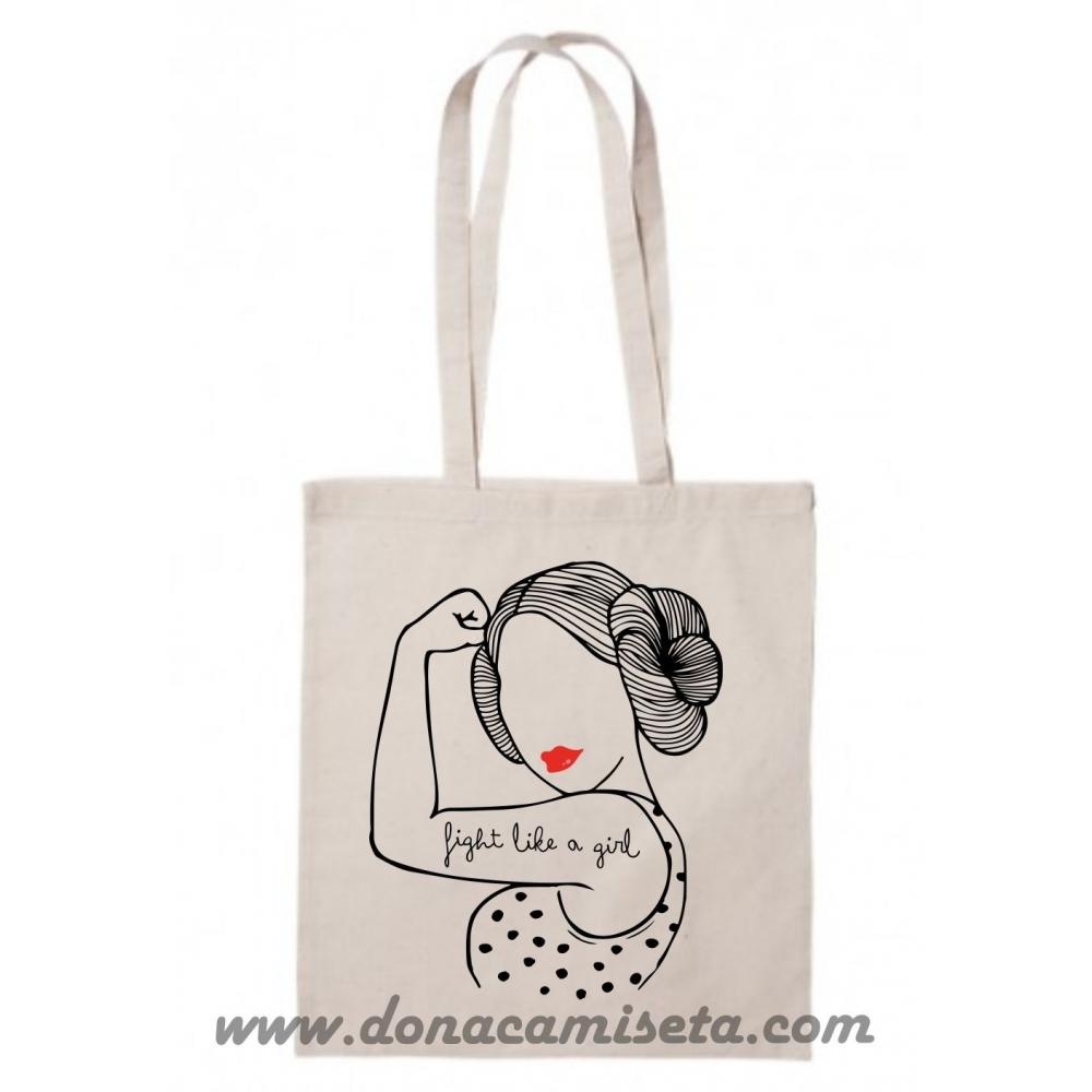 Bolsa Algodón Frida Pies para que los quiero asa larga
