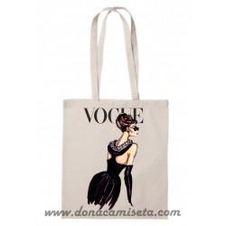 Bolsa Algodón Audrey Vogue Rojo asa larga