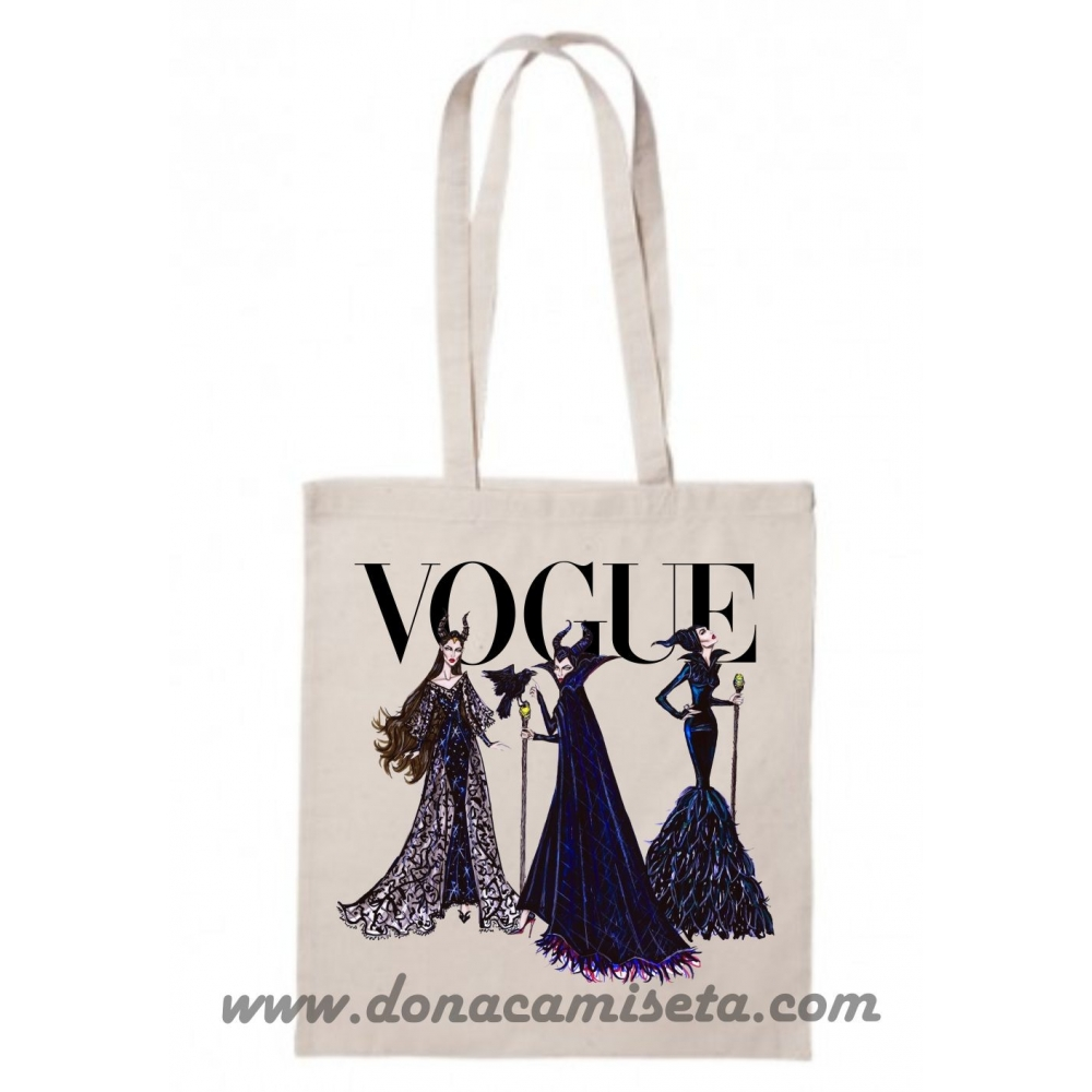 Bolsa Algodón Bella Vogue asa larga