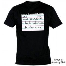 Camiseta MC Crisis Recortes Educación