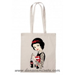 Bolsa Algodón Blancanieves Rockabilly asa larga