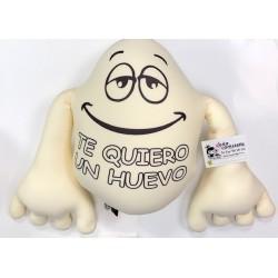 Cojin Huevo con brazos y besos Te quiero un Huevo 44 cm