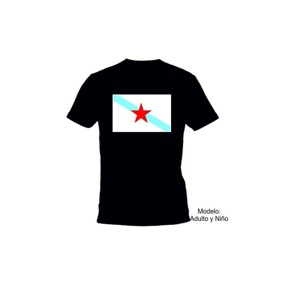 Camiseta MC Bandera Galicia Estrella
