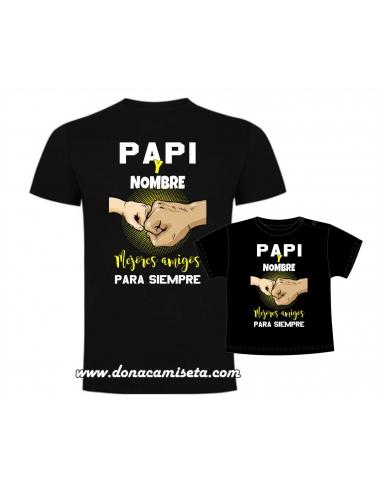 Camiseta Papi e hijo (nombre) Mejores...
